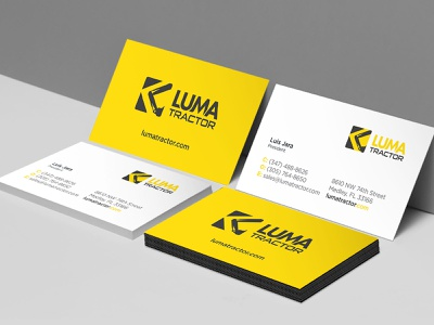 Luma Tractor Business Cards graphic design branding business card branding design design logo design