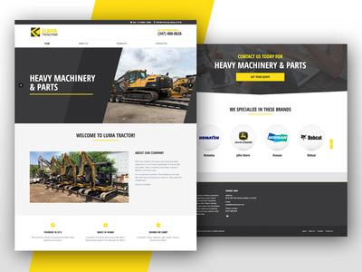 Luma Tractor Landing Page