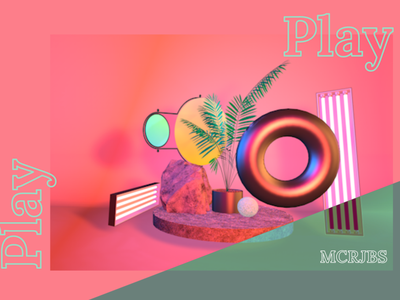 Play - setting fern design c4dart concept illustration xd c4d