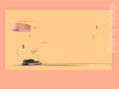 Sure, okay. design concept mockup xd illustrator collage c4d