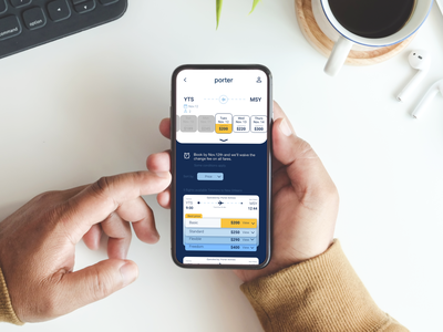 Porter Airlines - UX and UI design redesign concept redesign porterairlines