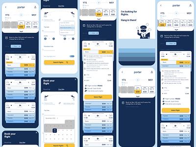 Porter Airlines Redesign concept design mobile toronto blue flight airlineapp airline