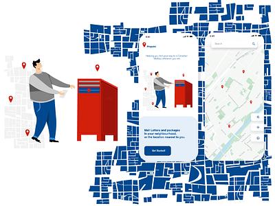 Pinpoint App Design branding cutout photoshop xd concept vector drawing illustration design