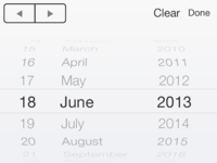 iOS7 Date picker PSD