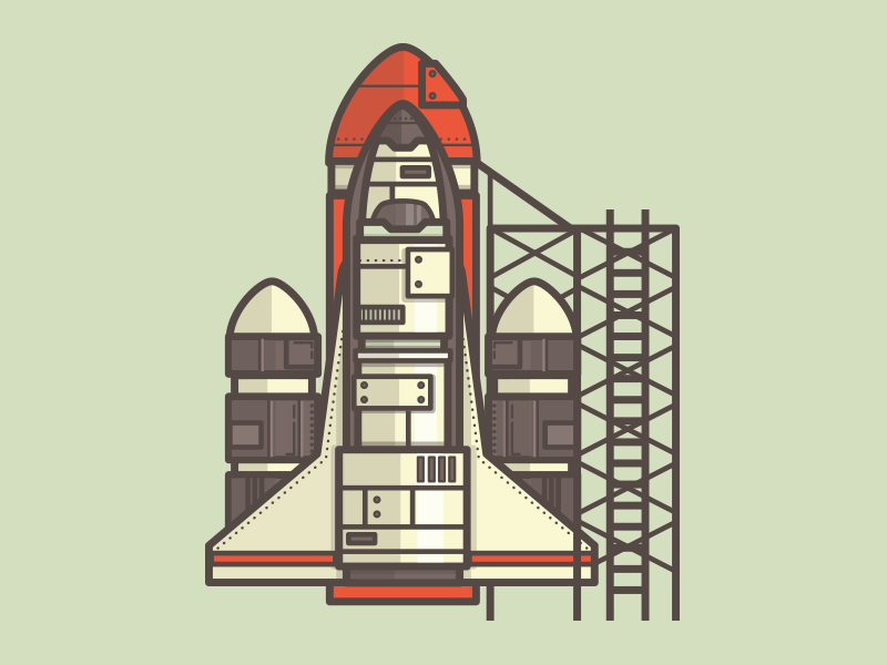 It's not rocket science.. illustration space nasa icon rocket ship