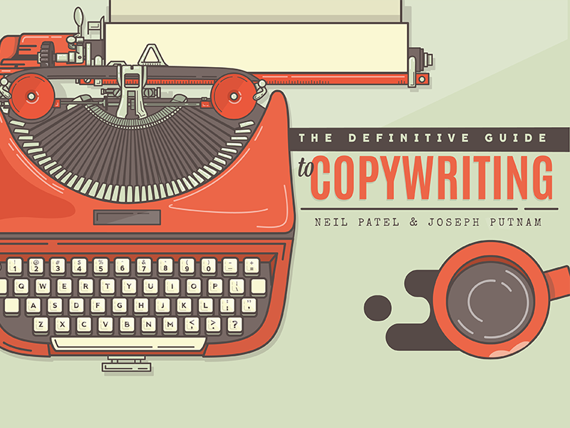 The Definitive Guide to Copywriting illustration title copywriting guide typewriter coffee lipstick