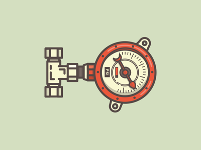 Un-under Pressure illustration icon pressure psi gauge