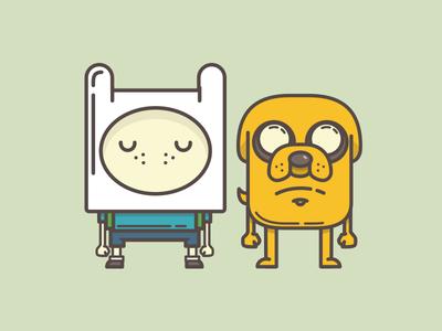Homies help homies, always. illustration jake finn adventure time character