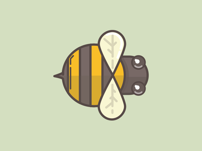 Bzz Bzz illustration icon bee buzz bumblebee