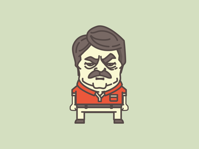 Ron Swanson illustration icon ron ron swanson parks and rec bacon