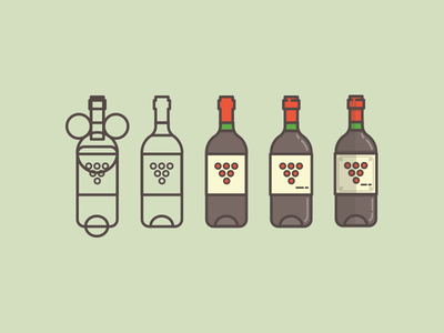 winewinewinewinewine illustration icon win process shapes