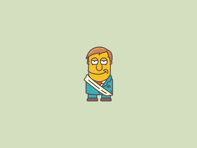 Mayor Quimby illustration icon simpsons mayor