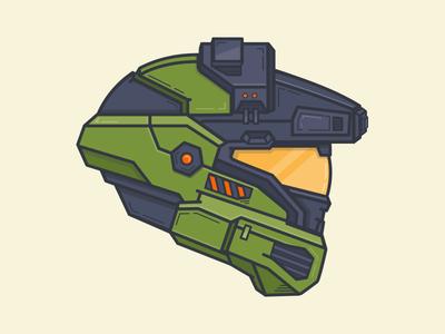 Master Chief illustration helmet halo xbox oculusvr
