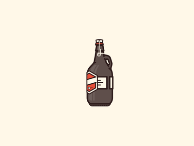 Friday treats illustration icon beer growler craft beer vancouver