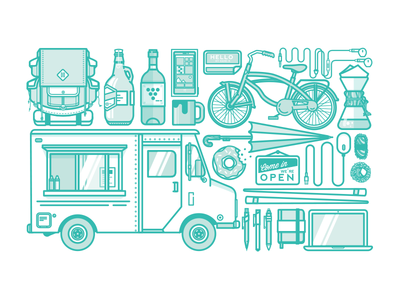 S'up Vancouver? food truck umbrella bike coffee backpack beer wine startup sushi hello doughnut