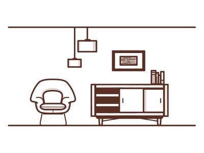 Watch your head.. interior design industrial design furniture womb chair eero saarinen