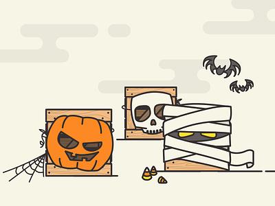 Have a CRATE Halloween! cratejoy halloween holiday pumpkin mummy candy corn bat mask