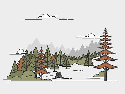 Few trees tree forrest landscape