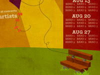 Cates Park Concert Series Poster