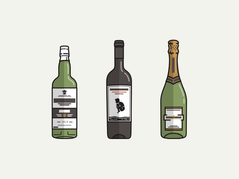 Thirsty? whiskey wine champagne icons drinks cannonball laphroaig