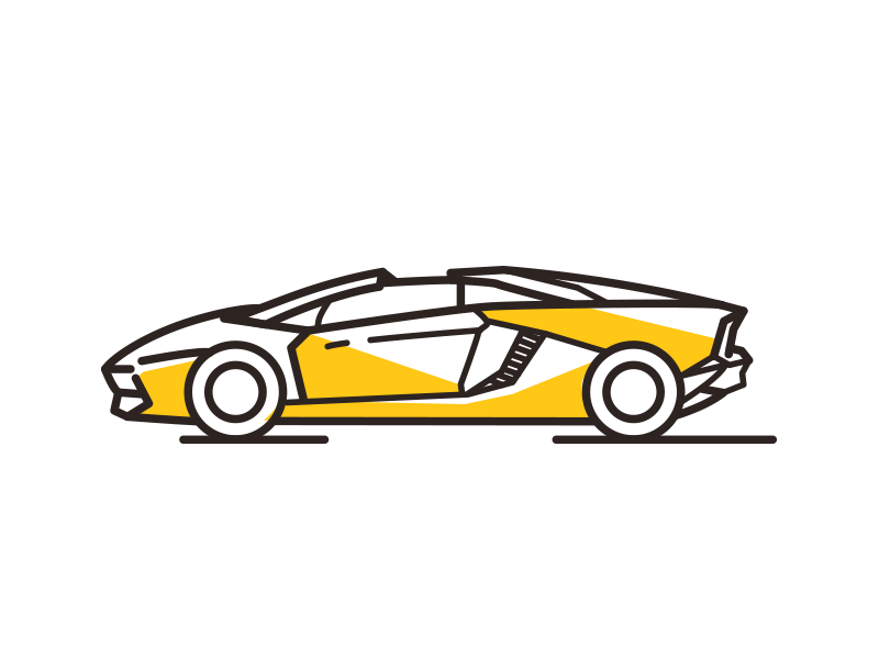 Lambo By Meg Dribbble Dribbble