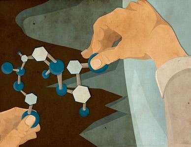 Book Cover for Kurt Vonnegut's Cat's Cradle illustration texture kurt vonnegut cats cradle molecule