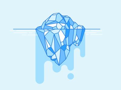 💧💧💧 bye melting iceberg
