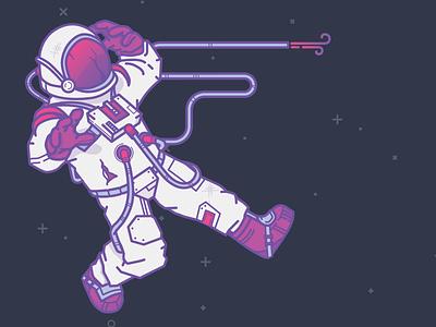 Spaceguy astronaut mesosphere space