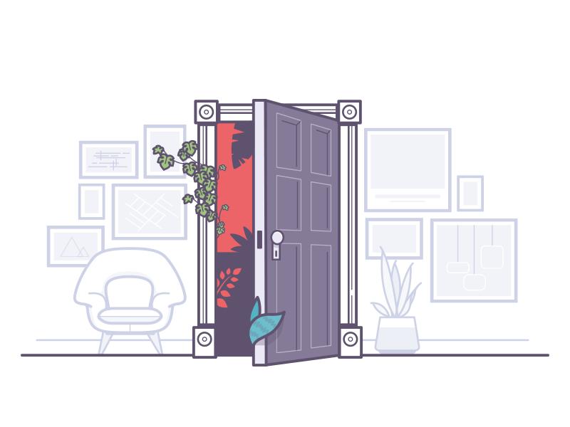 Default to Open illustration
