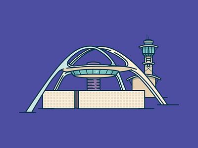 LAX architecture illustration airport