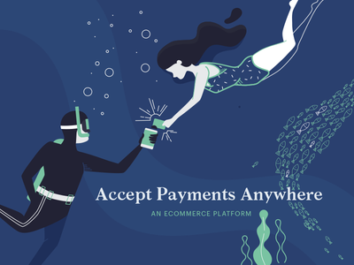 Anywhere. scuba fish payments illustration underwater