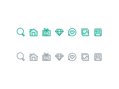 Few Icons icons timeline analytics comments products orders home search