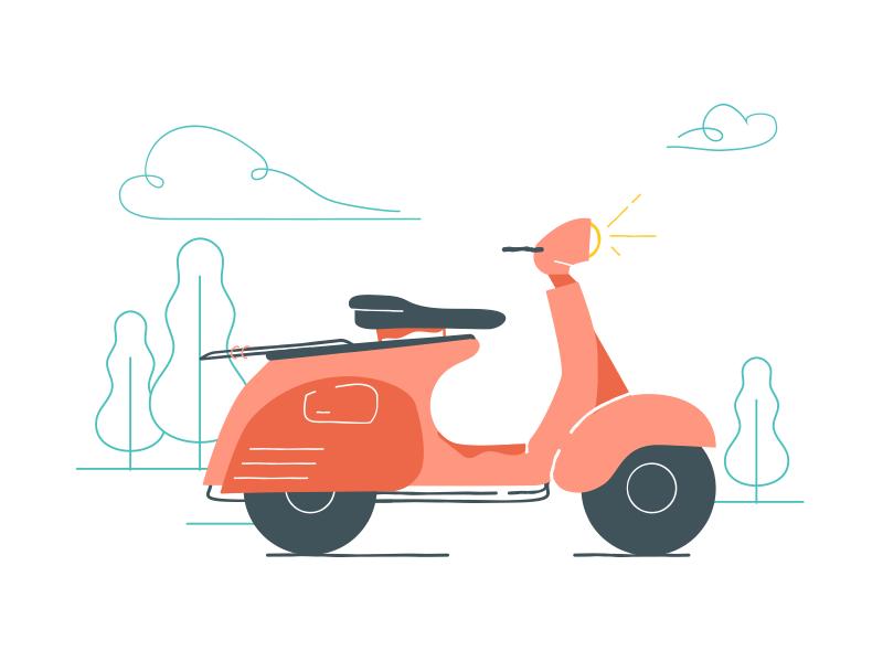 Vroom Vroom illustration scooter