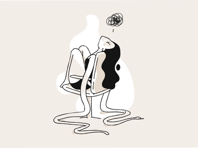 UGH melt ugh girl illustration