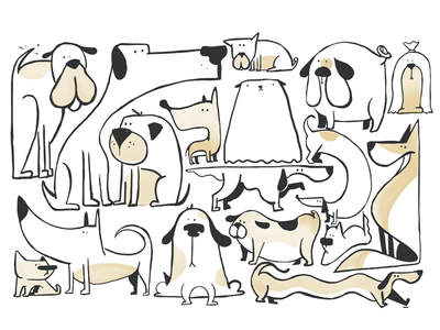Dogs of Lisbon dogs sketch apple pencil