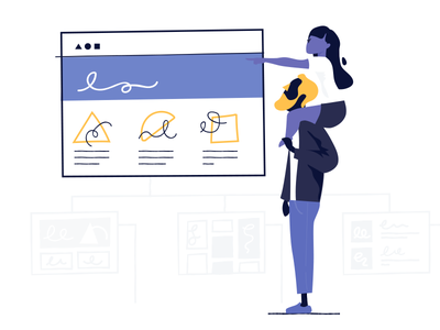 Sitemap ui shopify people illustration