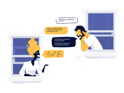 I gotchu chat support illustration people