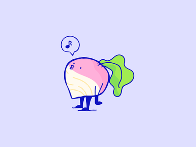 Rad character illustration radish