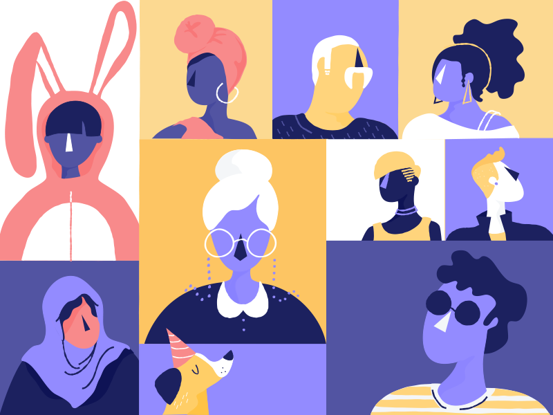You Can't Just Draw Purple People and Call it Diversity cheese for dinner bunny diversity inclusion medium illustration