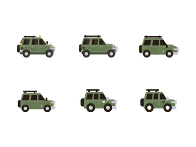 Teeny Tiny Trucks responsive illustration medium