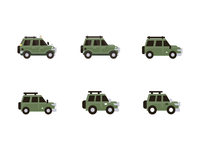 Teeny Tiny Trucks responsive illustration medium