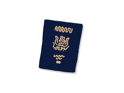Passport Squiggle Art