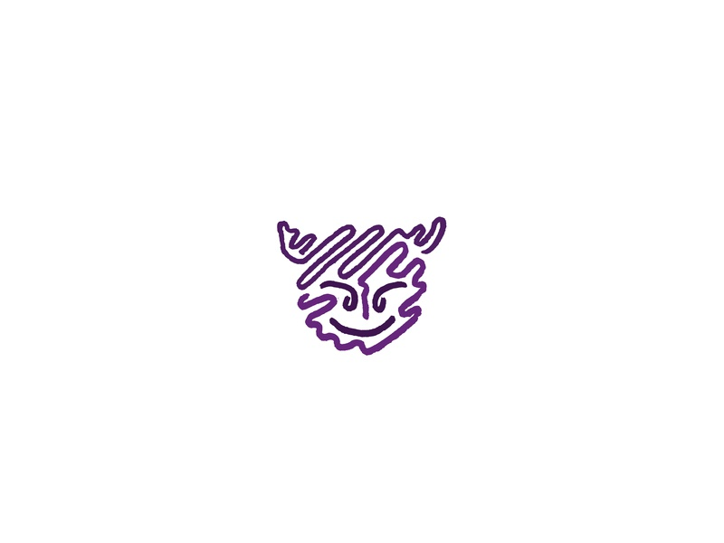 Purple Emoji brand squiggle minimalism sketch design logo linework line art lineart illustration art vector
