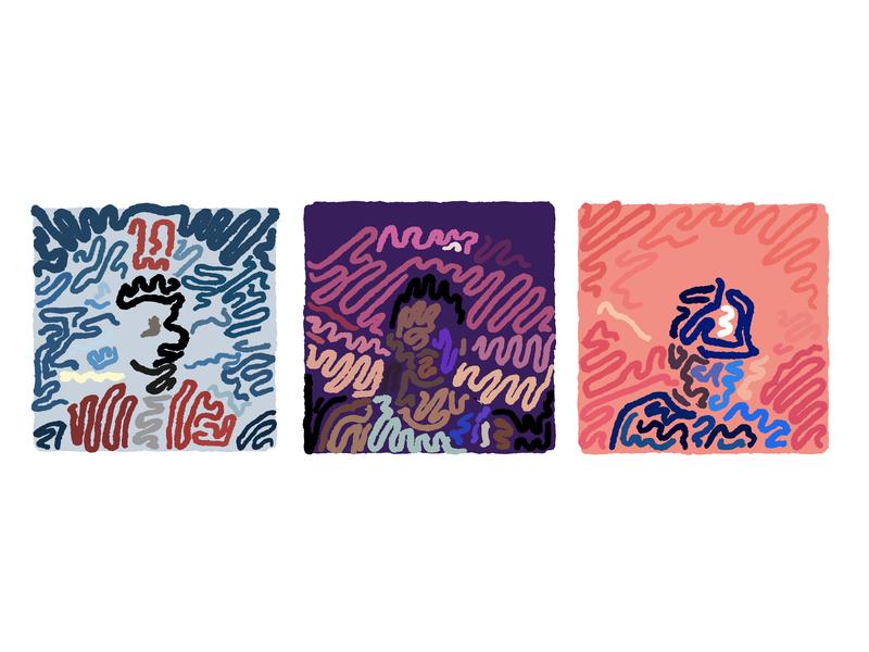 Chance the Rapper ~~~~ Discography minimal line album art minimalism squiggle sketch vector design linework line art lineart illustration art