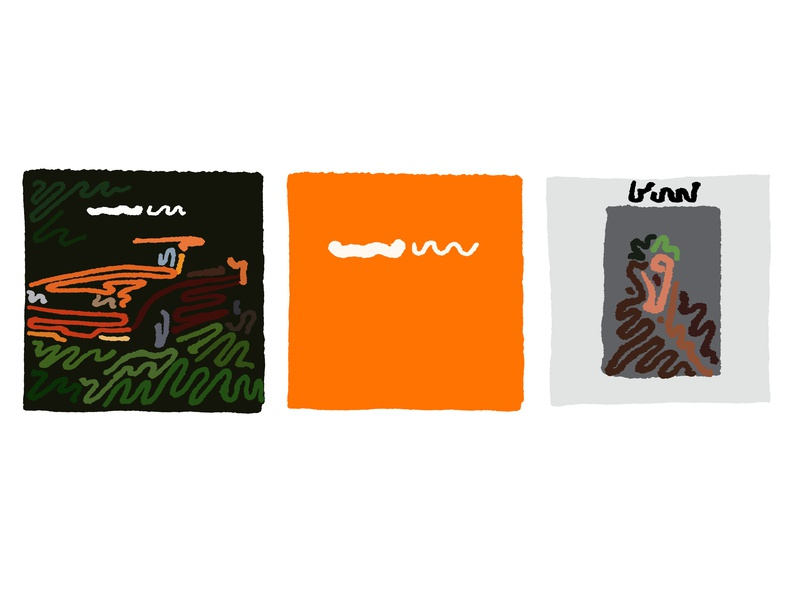 Frank Ocean ~~~~ Discography branding logos brand album cover art album cover minimal logo line album art minimalism squiggle sketch design vector linework line art lineart illustration art