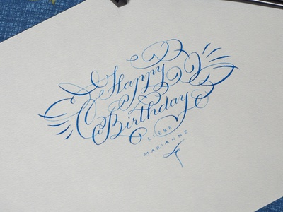 Happy Birthday! hand lettering typo calligraphy typography lettering