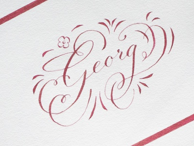 Georg hand lettering design calligraphy typo lettering typography