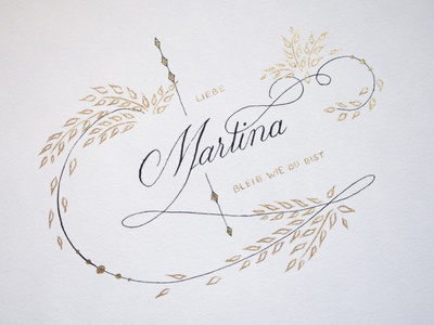 Martina typo hand lettering design hand drawn calligraphy typography lettering