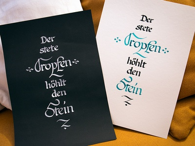 Der stete Tropfen … handwriting type writing calligraphy hand drawn drawing typo typography hand lettering lettering