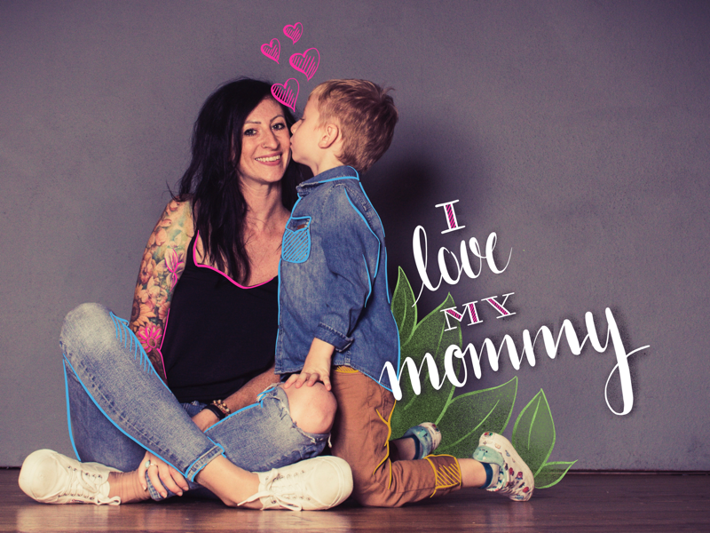 I love my mommy linz austria procreate ipadpro drawing typography letter lettering